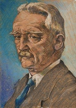 Harry Aaron Kernoff, Portrait of Seamus O'Sullivan (1940) at Morgan O'Driscoll Art Auctions
