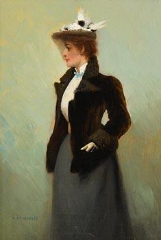 Harry Jones Thaddeus, A Lady of Fashion at Morgan O'Driscoll Art Auctions