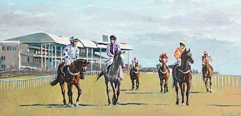 John Fitzgerald, To the Start (Curragh Racecourse) at Morgan O'Driscoll Art Auctions