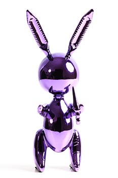After Jeff Koons, Purple Rabbit at Morgan O'Driscoll Art Auctions
