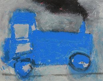 Basil Blackshaw, Blue Tractor at Morgan O'Driscoll Art Auctions
