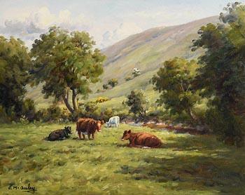 Charles J. McAuley, Restful Meadow, Glendun (1988) at Morgan O'Driscoll Art Auctions