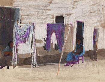 George Campbell, The Washing Line at Morgan O'Driscoll Art Auctions