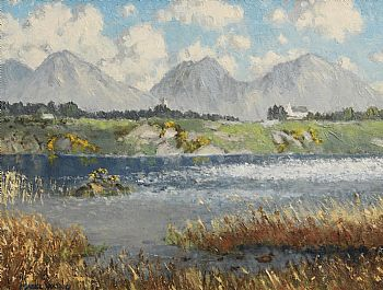 Mabel Young, The Lake, Cregduff, Roundstone, Co. Galway at Morgan O'Driscoll Art Auctions