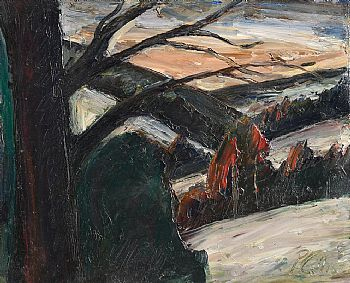 Peter Collis, Landscape in Wicklow at Morgan O'Driscoll Art Auctions