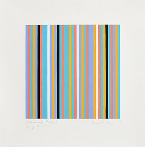 Bridget Riley, Serpentine Study 3, Group A (1999) at Morgan O'Driscoll Art Auctions