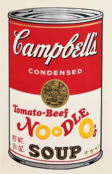 Andy Warhol, Tomato-Beef Noodle O�s, from Campbell's Soup II, 1969 (F. & S. II.61) at Morgan O'Driscoll Art Auctions