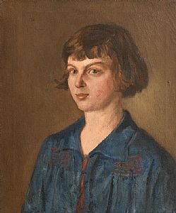 Estella Frances Solomons, Portrait of Moppie Morrow at Morgan O'Driscoll Art Auctions