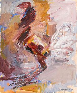 Basil Blackshaw, Frightened Cockerel at Morgan O'Driscoll Art Auctions