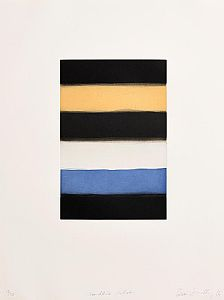 Sean Scully, Landline Ochre (2016) at Morgan O'Driscoll Art Auctions
