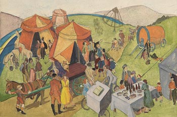 Barbara Warren, Day at the Circus at Morgan O'Driscoll Art Auctions