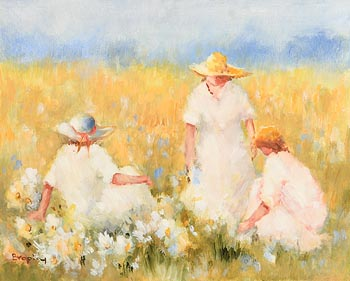 Elizabeth Brophy, The Yellow Field at Morgan O'Driscoll Art Auctions