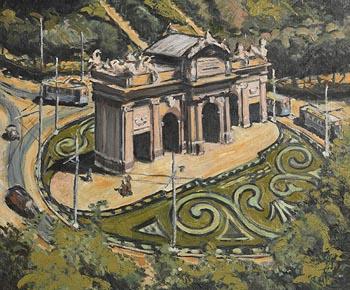 David Clarke, Plaza de Independencia, Madrid (1950) at Morgan O'Driscoll Art Auctions