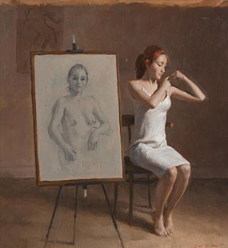 Harry Holland, Female Portrait 2014 at Morgan O'Driscoll Art Auctions