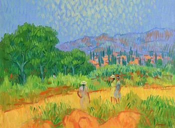 Desmond Carrick, Enjoying the Sunshine at Morgan O'Driscoll Art Auctions