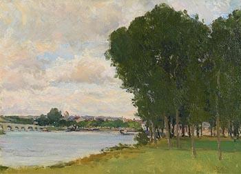 Hans Iten, River Seine, France at Morgan O'Driscoll Art Auctions