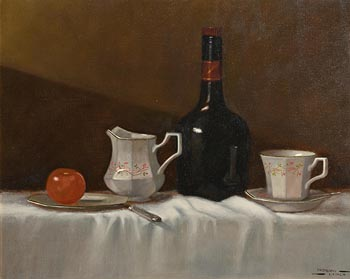 Padraig Lynch, Still Life on Table at Morgan O'Driscoll Art Auctions