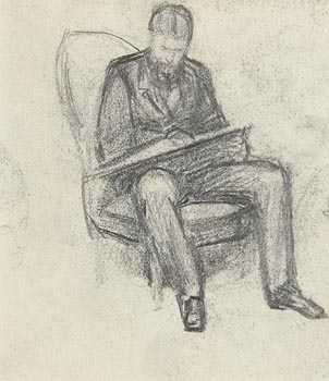 John Butler Yeats, Seated Male at Morgan O'Driscoll Art Auctions