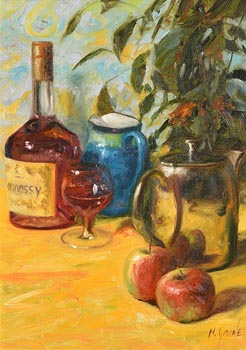 Henry McGrane, Still Life - Hennessy and Fruit at Morgan O'Driscoll Art Auctions