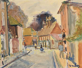 Ronald Ossory Dunlop, Street in Chichester, Sussex at Morgan O'Driscoll Art Auctions