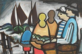 Markey Robinson, Fisher Folk at Morgan O'Driscoll Art Auctions