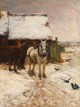 Claude Hayes, Shire Horse at Morgan O'Driscoll Art Auctions