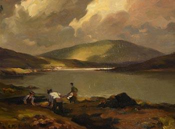 Charles J. McAuley, Cutting the Turf at Morgan O'Driscoll Art Auctions