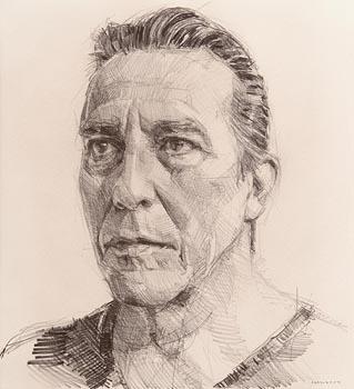 Colin Davidson, Portrait of Ciaran Hinds at Morgan O'Driscoll Art Auctions