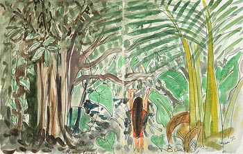 Pauline Bewick, Rain Forest (1990) at Morgan O'Driscoll Art Auctions