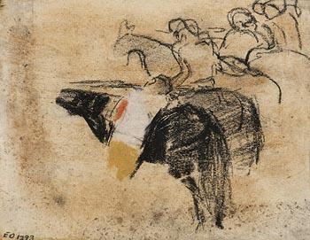 Joan Eardley, Horses and Riders at Morgan O'Driscoll Art Auctions