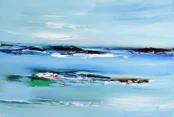 Majella O'Neill Collins, Sherkin Seas (2018) at Morgan O'Driscoll Art Auctions