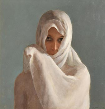 Harry Holland, White Scarf 2012 at Morgan O'Driscoll Art Auctions