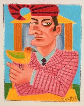 Graham Knuttel, Mr Punch and Bird at Morgan O'Driscoll Art Auctions