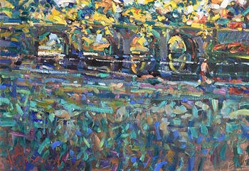 Arthur K. Maderson, October Evening, Lismore River Pool at Morgan O'Driscoll Art Auctions