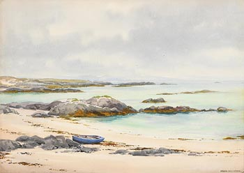 Frank J. Egginton, Blue Boat, Achill Island at Morgan O'Driscoll Art Auctions