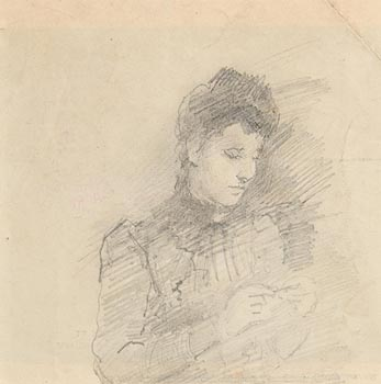 John Butler Yeats, The Seamstress at Morgan O'Driscoll Art Auctions