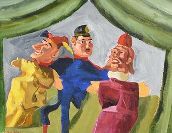 Sara H. Le Jeune, Punch and Friends at Morgan O'Driscoll Art Auctions