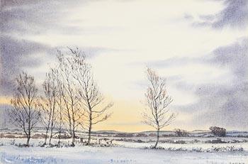 James Hall Flack, Birch Trees at Winter Dawn (1993) at Morgan O'Driscoll Art Auctions