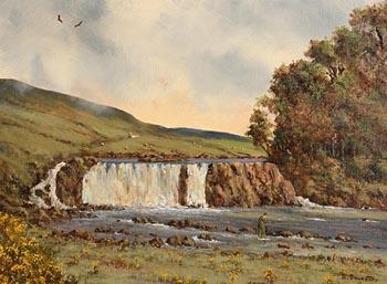 David Anthony Overend, Aasleagh Falls, Leenane, Connemara at Morgan O'Driscoll Art Auctions