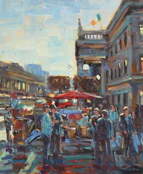 Norman Teeling, O'Connell Street, Dublin at Morgan O'Driscoll Art Auctions