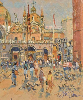 Liam Treacy, St Marks, Venice at Morgan O'Driscoll Art Auctions