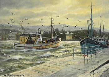 Neville Henderson, Howth Harbour (1983) at Morgan O'Driscoll Art Auctions