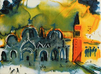 Salvador Dali, St. Mark's Square, Venice at Morgan O'Driscoll Art Auctions