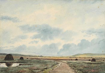 Douglas Alexander, Peat Stacks, Connemara at Morgan O'Driscoll Art Auctions