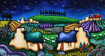 Annie Robinson, Celtic Pastures Under the Stars at Morgan O'Driscoll Art Auctions