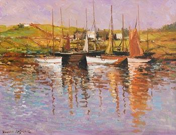 Norman J. McCaig, Boats on the River at Morgan O'Driscoll Art Auctions