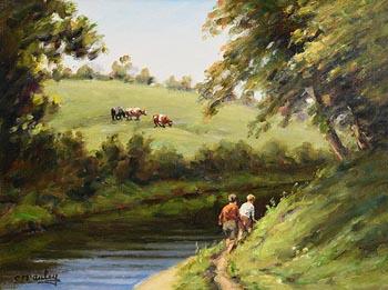Charles J. McAuley, On the Banks of the River Dall at Morgan O'Driscoll Art Auctions