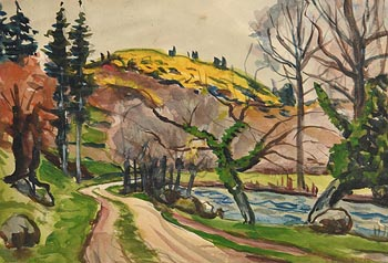 Gerard Dillon, Road to the West at Morgan O'Driscoll Art Auctions