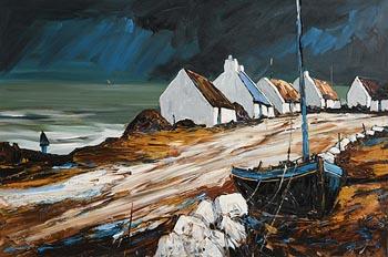 J.P. Rooney, An Irish Sea Village at Morgan O'Driscoll Art Auctions
