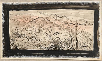 George Campbell, Mountainous Spanish Village at Morgan O'Driscoll Art Auctions